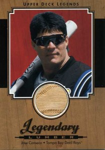 2001 Upper Deck Legendary Lumber Bat