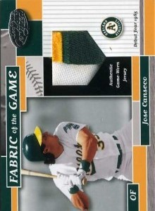 2002 Leaf Certified Fabric of the Game Patch /85