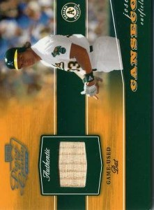 2002 Playoff Piece of the Game Platinum Bat /25