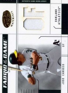 2003 Leaf Certified Fabric of the Game Position Jersey /50