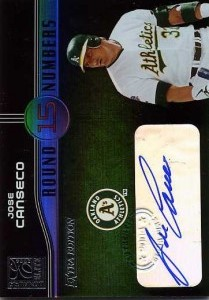 2004 Donruss Elite Extra Edition Round Numbers Autograph /25