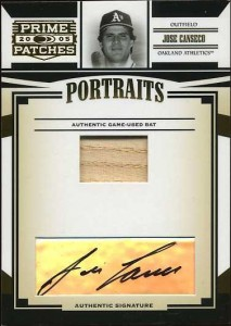 2005 Donruss Prime Patches Bat/Auto /25