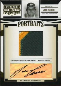 2005 Donruss Prime Patches Number Patch Auto /25