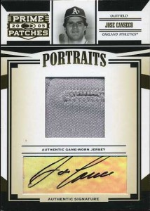 2005 Donruss Prime Patches Button Hole Jersey/Auto /25