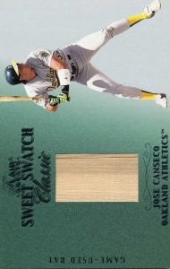 2003 Flair Greats Sweet Swatch Bat /214