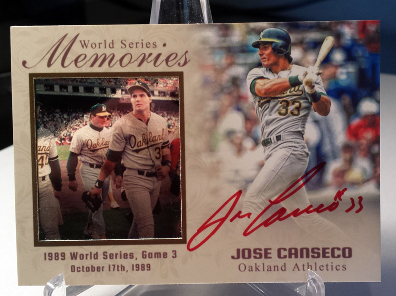 Image result for 1989 world series custom canseco