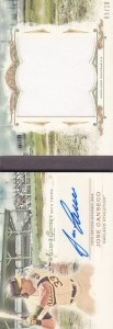 2014 Topps Allen & Ginter Jersey Autograph Booklet /10