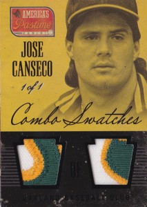 2013 Panini America's Pastime Combo Swatches Dual Patch 1/1