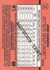 1990 Donruss #125 Aqueous Very Rare