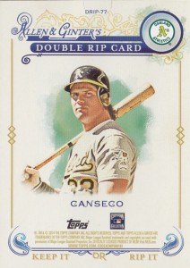 2014 Topps Allen & Ginter Double Rip Card with McGwire /5