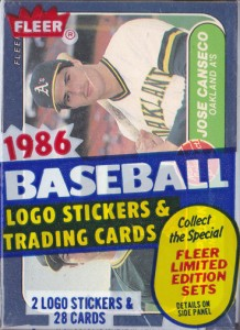 1986 Fleer #649 Cello Pack