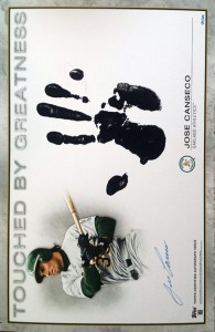 2013 Topps Archives Touched By Greatness autograph & handprint /20