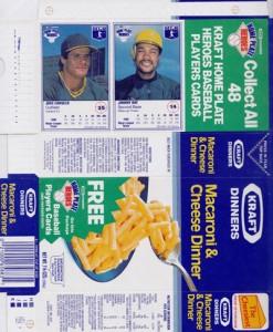 1987 Kraft Home Plate Heroes Proof Box