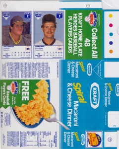 1987 Kraft Spiral Home Plate Heroes Proof Box