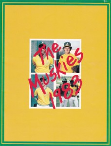 1983 Madison Muskies Program