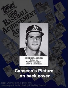 1986 Topps Baseball Achievement Awards Program