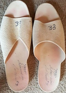1988 Game Used Shower Shoes