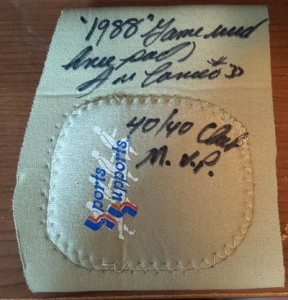 1988 Game Used Knee Pad