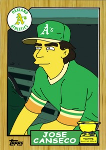 1987 TOPPS #620 Simpsons Custom