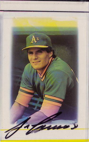 Canseco Super Collector Top 10 Cards Of The 1980s Tan Man Baseball Fan