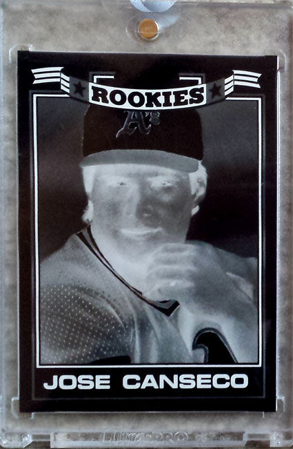 1987 Topps Glossy Rookies 4 Color Mask Negative 1/1