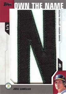 2014 Topps Own the Name Letter Patch  1/1