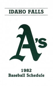 1982 Idaho Falls A's Pocket Schedule