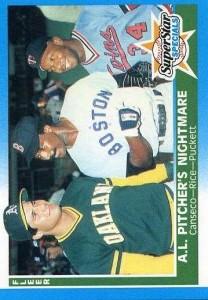 1987 Fleer #633 Glossy w/Rice & Puckett