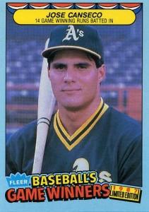 1987 Fleer Baseball's Game Winners