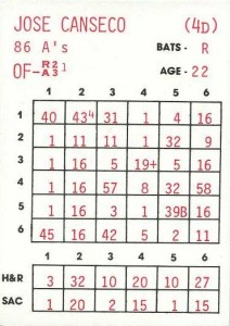 1986 Replay Baseball Game Card