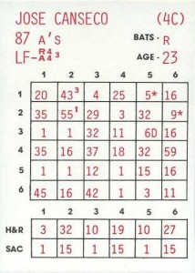 1987 Replay Baseball Game Card