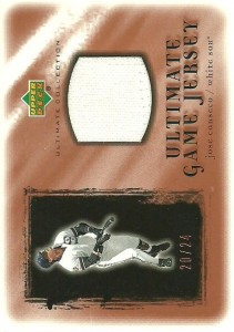 2001 Ultimate Collection Game Jersey Copper /24