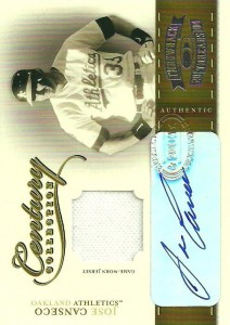 2004 Throwback Threads Century Collection Jersey/Autograph /25