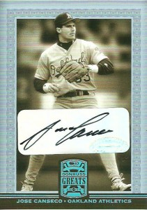 2005 Donruss Greats Signature Platinum HoloFoil Autograph /5