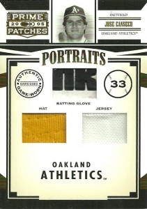 2005 Donruss Prime Patches Triple /33
