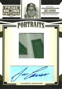 2002 Donruss Prime Patches Portraits Autograph Name Plate Patch #82 /10