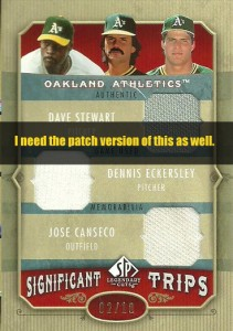 2005 SP Legendary Cuts Significant Trips Patch /5