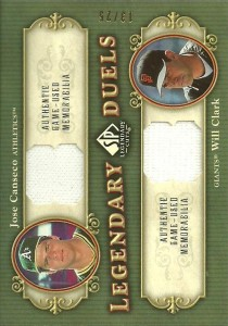 2005 SP Legendary Cuts Legendary Duels relic /25