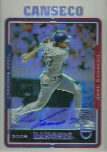 2005 Topps Retired Signature Refractor Autograph /25
