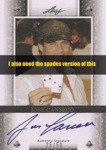 2011 Leaf Poker Spades Autograph