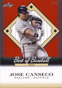 2013 Leaf Best of Baseball Red /5
