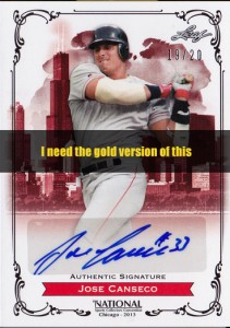 2013 Leaf National Convention Autograph Gold /10