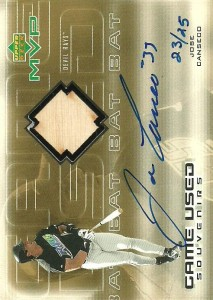 2000 Upper Deck MVP Game Used Souvenirs Auto/Bat /25