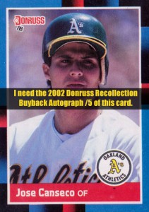 2002 Donruss Recollection Buyback   Autograph /5