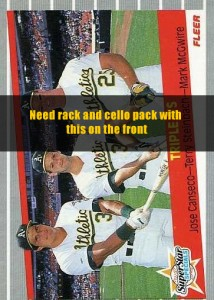 1989 Fleer Cello & Rack Pack